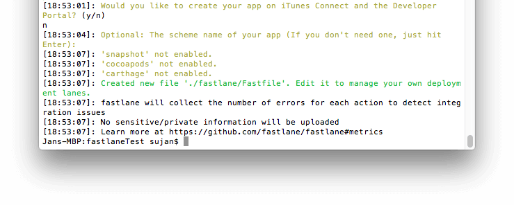 Initialize Fastlane for your Cordova iOS and Android apps